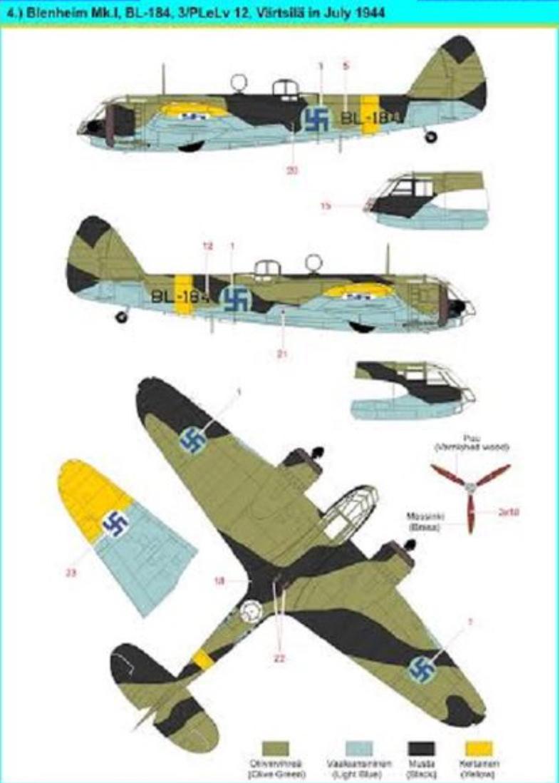 Bristol Blenheim Mk.I + Kuivalainen Decals Suomi-siirtokuvilla 1/48 |  Sisumodels Oy