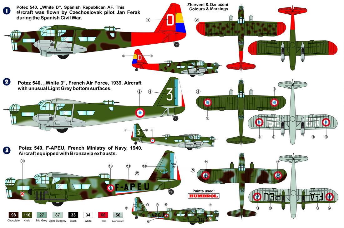 Potez 540 Bomber 1/72 | Sisumodels Oy