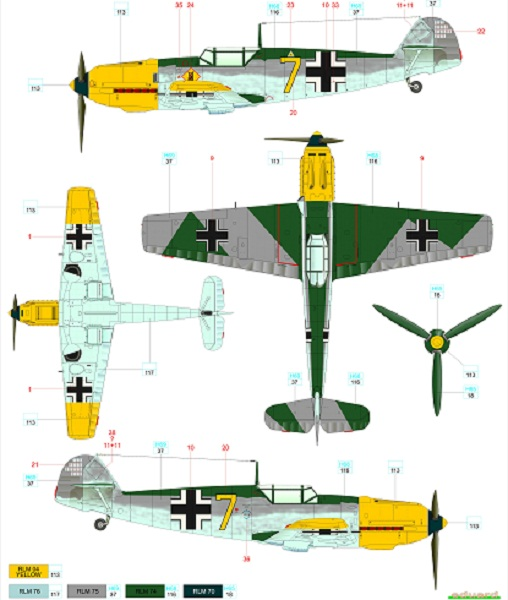 Me-109E Luftwaffe over Finland 1/48   Sisumodels Oy
