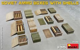 WW2 Soviet ammo boxes with shells 1/35