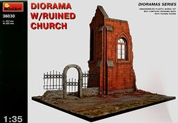 Diorama with ruined church 1/35
