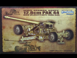 WWII German Krupp 12.8cm Pak 44 High Velocity Anti Tank Gun 1/35