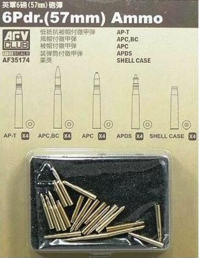 6 Pdr ammo (57mm) 20 assorted pcs. 1/35