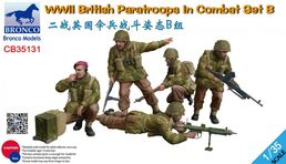 WWII British Paratroops in Combat Set B  1:35