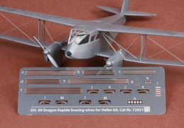 DH-89 Dragon Rapide rigging wire set 1/72  for Heller