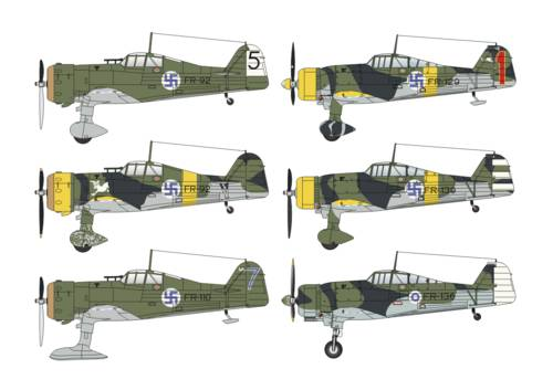 Fokker D.XXI Mercury & Twin Wasp SUOMI DUO PACK 1/48