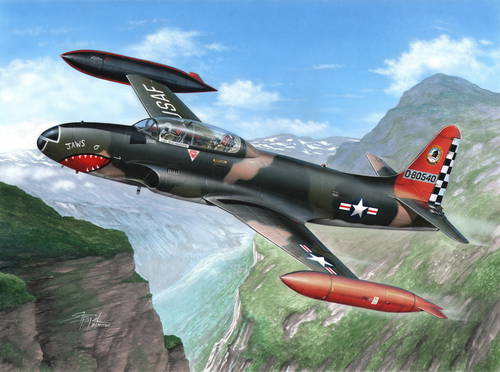 Lockheed T-33 Shooting Star over Europe 1/32