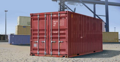 20ft Container - 6m kontti1/35