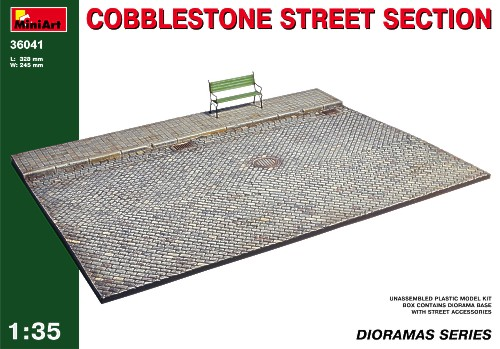Cobblestone street section 1/35