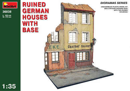 Ruined German houses with base  1/35