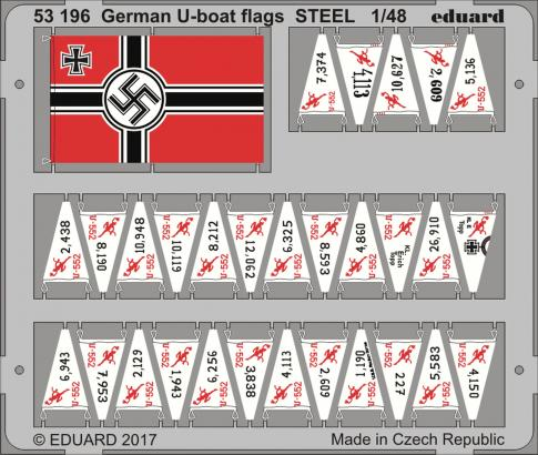 German U-boat flags for DKM U-Boat Type VIIC U-552 1/48 TRUMPETER