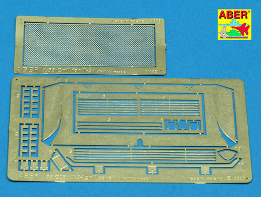 Grille covers for T-34  (Tamiya) 1/35