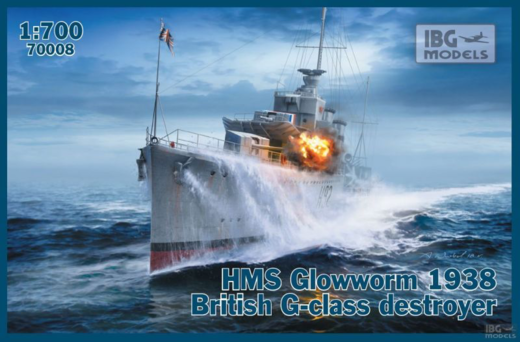 HMS Glowworm 1938 British G-class Destroyer 1/700