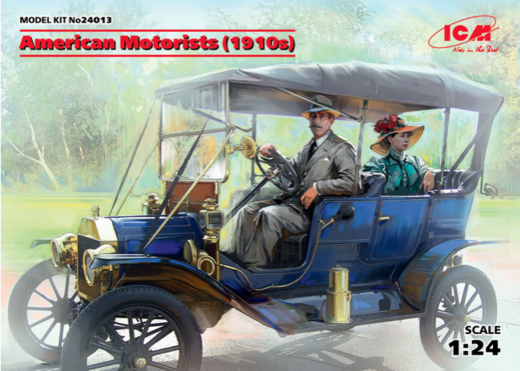 American Motorists (1910's) (2 figures) 1/24