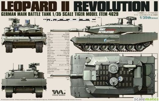 German Main Battle Tank Leopard II Revolution I 1/35