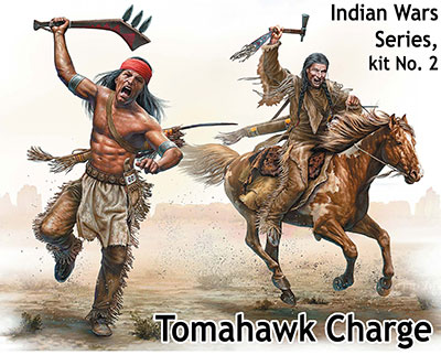 """Tomahawk Charge"" Indian Wars series 1/35"