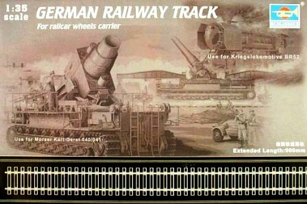 German railway track set 90cm 1/35