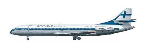 Sud Aviation Super Caravelle 10B Finnair (1960-luku) 1/144