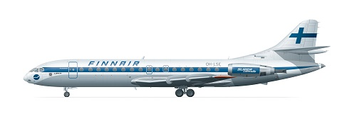 Sud Aviation Super Caravelle 10B Finnair (1970-luku) 1/144