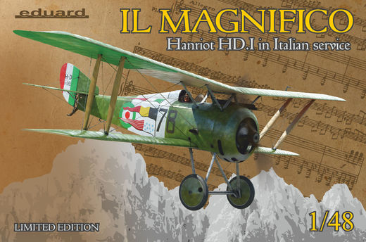 IL MAGNIFICO Hanriot HD.I in Italian service 1/48  Limited edition