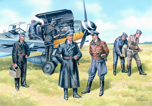 German Luftwaffe Pilots and Ground Personnel (1939-1945) 1/48