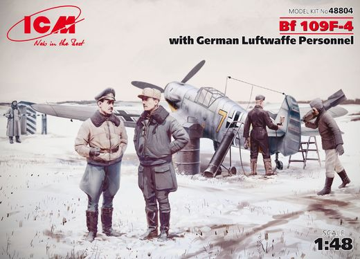 Messerschmitt Bf 109F-4 with Luftwaffe personnel 1/48