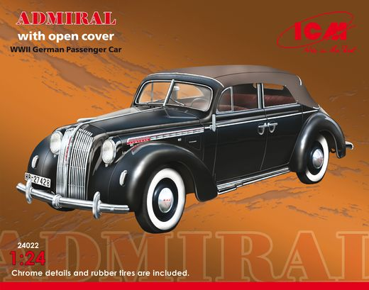 Opel Admiral Cabriolet (with open cover) 1/24