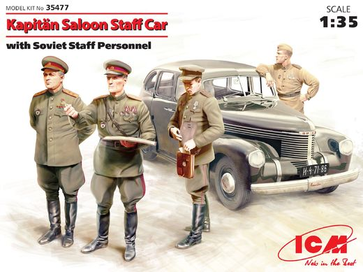 Opel Kapitan Saloon with Soviet Staff Personnel 1/35