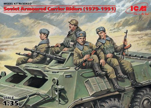 Soviet Armored Carrier Riders 1979-91 (x4 fig) 1/35