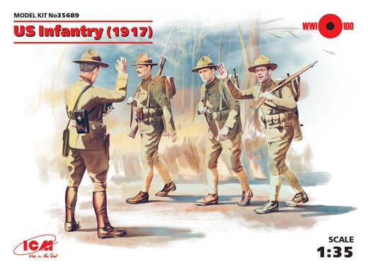 US Infantry (1917) (4 figures) 1/35