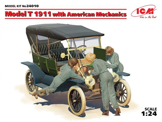 Ford Model T 1911 Touring with American Mechanics 1/24