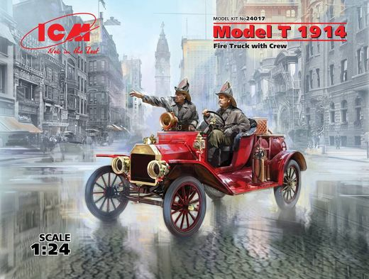 Ford Model T 1914 Fire Truck with Crew 1/24