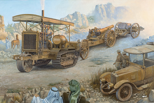 Holt 75 Artillery tracktor with BL 8-inch Howitzer 1/35