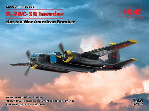 B-26С-50 Invader - Korean War American Bomber 1/48