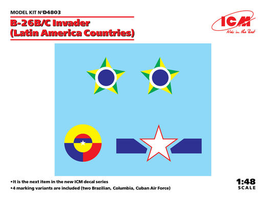 B-26B/C Invader (Latin America Countries) siirtokuvat/decals 1/48