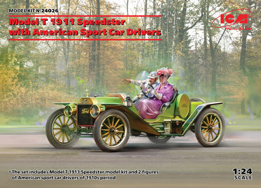 Model T 1913 Speedster with American Sport Car Drivers 1/24