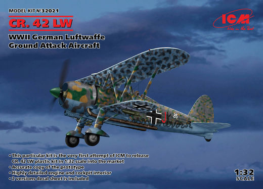 CR.42 LW  - WWII German Luftwaffe Ground Attack Aircraft 1/32