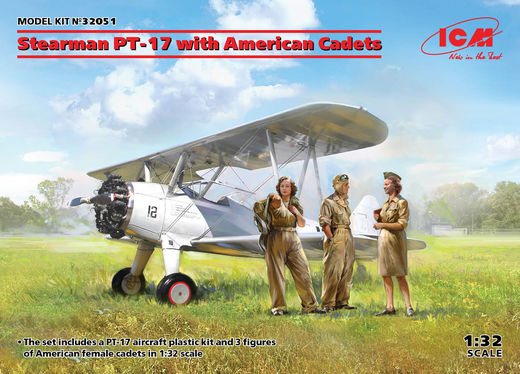 Stearman PT-17 with American Cadets 1/32