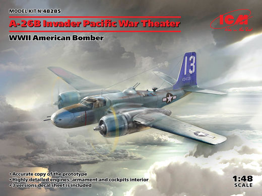 A-26В Invader Pacific War Theater - WWII American Bomber 1/48