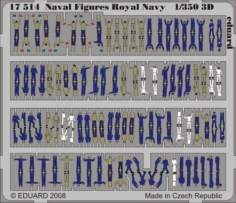 Naval Figures Royal Navy 1/350  3D