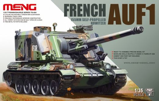 French GCT 155mm AUF1 self-propelled howitzer 1/35