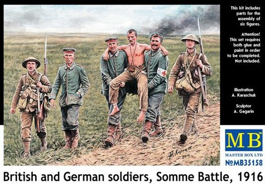 British and German soldiers, Somme 1916 1/35
