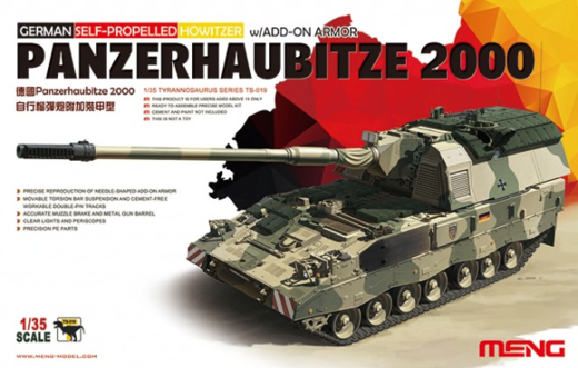 Panzerhaubitze 2000 Self-Propelled Howitzer (with add on Armour) 1/35