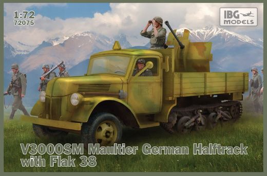 Ford V3000S/SS M  Maultier with FlaK 38 1/72