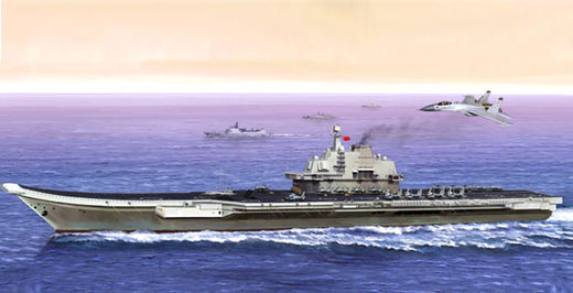 Chinese aircraft carrier Liaoning 2012 1/350