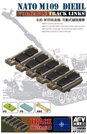 Workable tracks for M109 NATO Diehl 1/35