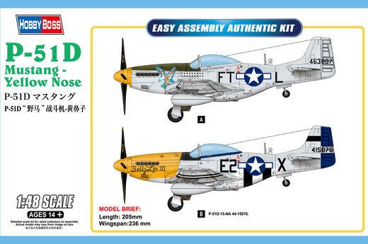P-51D Mustang  - Yellow Nose 1/48