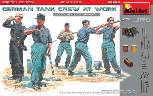 WW2 German Tank Crew at work SPECIAL EDITION 1/35