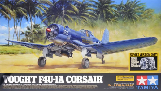 Vought F4U-1A Corsair Clear Engine Cowling Included 1/32