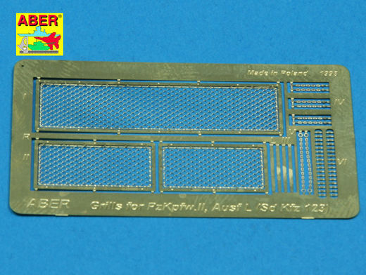 Grilles for Pz.Kpfw.II 'Luchs' (Sd.Kfz.123)  (Mirage Hobby) 1/35